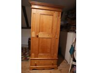 Antique pine wardrobe ,