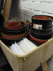 Assorted plant pots and trays
