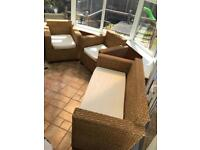 3 Piece Rattan Conservatory Furniture