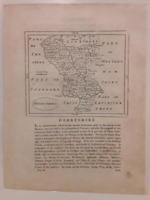 c1780s; Derbyshire, England; Antique Map; John Seller/ Francis Grose