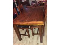 HEAVY SOLID PINE 5ft DINING TABLE IN VERY GOOD USED CONDITION FREE LOCAL DELIVERY 07486933766