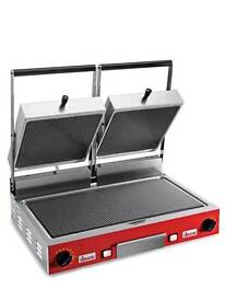 Commercial double panini grill sirman