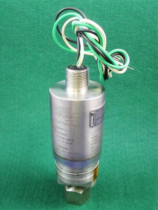 AMETEK PG3000 Series Pressure Transmitter PG3000-10M-92-12-XX-13-62