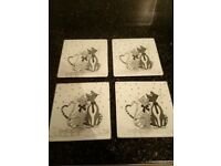 Cute cat coasters set of 4