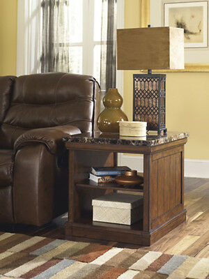 Ashley Furniture Rectangular End Table Merihill Medium Brown T838 3 Table New