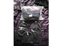 New old stock clothing bundle including T-shirts, Polo's, Beanie hats, Sweatshirts
