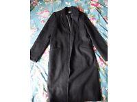 Topshop long Coat Size 8