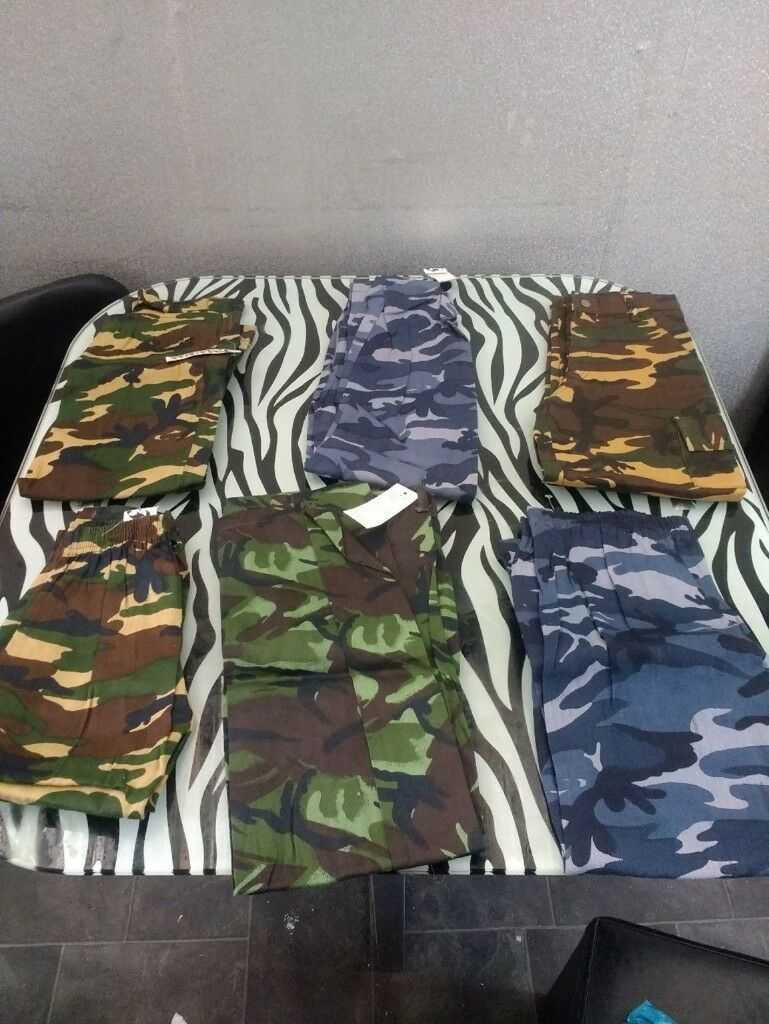 army trousers job lot