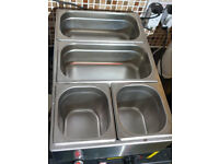 Buffalo Bain Marie with taps and pans. In full working order. As new condition