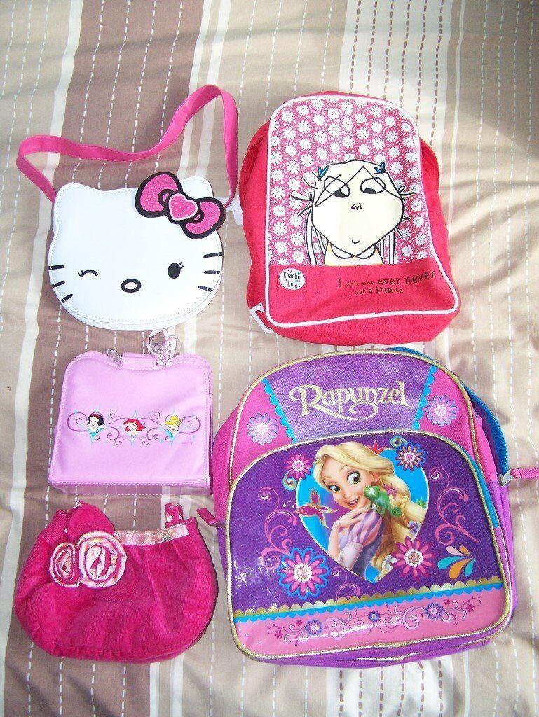 Bundle of girls backpacks and handbags  7061b2e7e10da