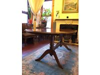 Rossmore, mahogany, twin pedestal, extending dining table