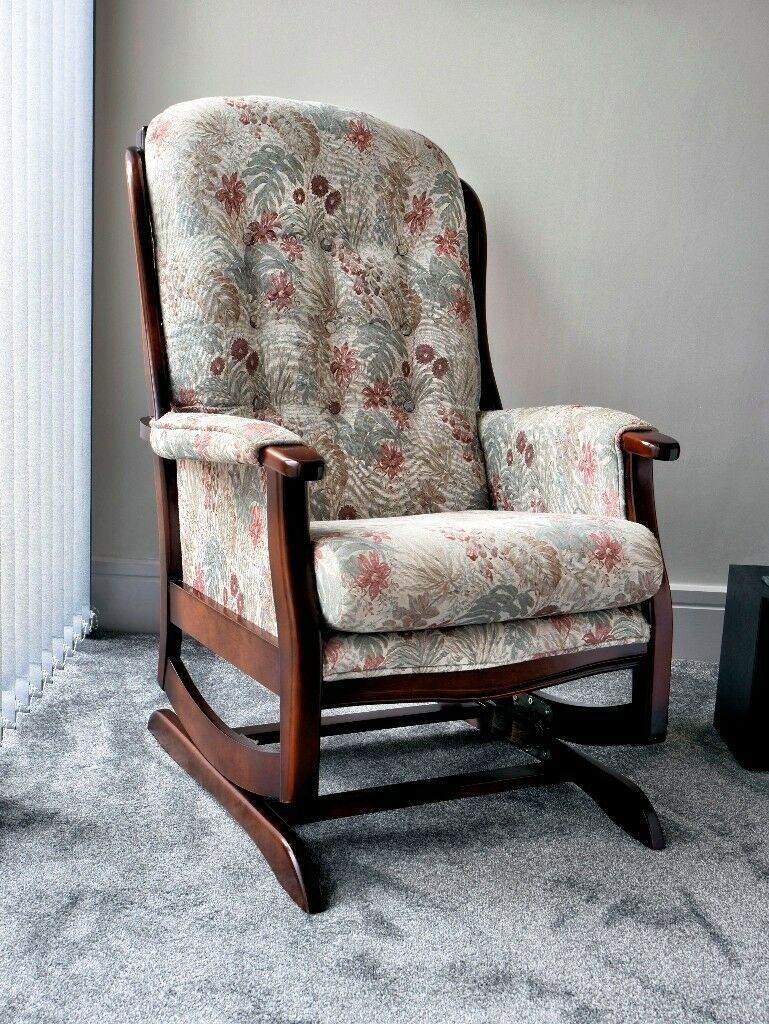 Traditional Upholstered Rocking Chair