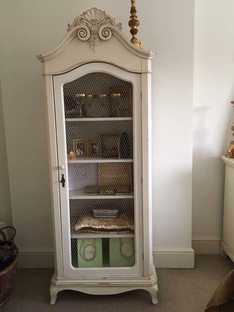 Stunning Laura Ashley Shabby Chic Armoire Display Cabinet Wardrobe
