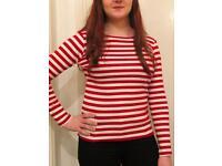 Vintage Stripe Red/White Jumper Size 6