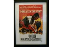 Framed print Gone with the Wind film poster