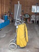 """World's Bag Boy Favorite"" (Yellow) Golf Bag & Clubs"
