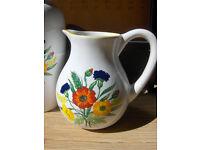 Set Of 2 Vintage Floral Jug And Vase