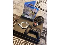 Sony PS4 Playstation 4 Matte Black 500GB With 1 game original controller and wires