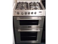 Cannon 60cm double oven and grill gas cooker in stainless steel effect