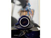 Vintage French Blue Martell Cognac Tea Coffee Set