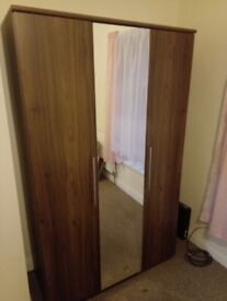 Wardrobe with mirror, cheap, very good condition, MUST GO, want to get rid asap.