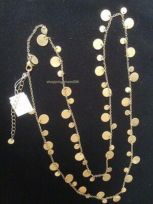 Lia Sophia  Panorama Reflection  Matte Gold Tone Necklace 34  37