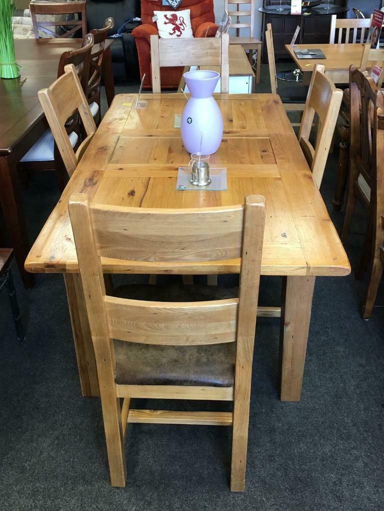 Bhf Northampton Chunky Wooden Dining Table 4 Chairs 1701766201 In Northampton Northamptonshire Gumtree