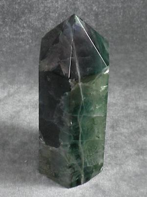 Rainbow Fluorite Healing Focus Point Pyramid Massage Wand 11Cm Generator 3Rd Eye
