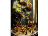 Vintage codeg foreign coffee set Gold Coffee Set