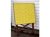 Vintage 1960s Fold Away Wood Picnic Table