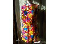 vintage floral retro 60s pop dress