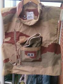 Ex military flak jacket, perfect for fishing/paintballing waistcoat.