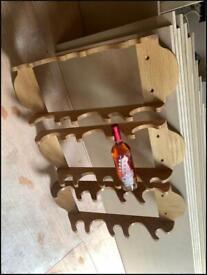 Handmade oak wine racks
