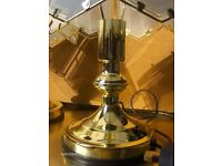 pair Table Lamps With Glass Shade Polished Brass Base Table Touch Lamps