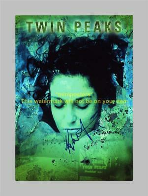 """TWIN PEAKS PP SIGNED POSTER 12""""X8"""" Kyle MacLachlan"""