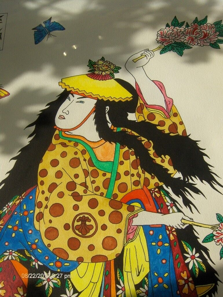 very rare Large Chinese Wall Painting ,1980s Colorful Painting | in ...