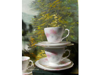 Vintage BHS Romance Fine Bone China Tea Set with Pink Flowers