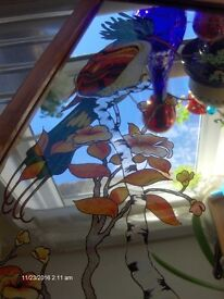 Vintage Wall Mirror With Bird Flowers , Wall Mirrorr