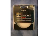 Hoya PRO UV 72mm Lens Filter. Excellent condition, with case. Easy clean.