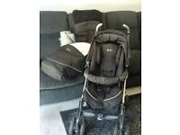 Silver cross Pram / Pushchair with accessories (winter foot muff / rainproof cover)