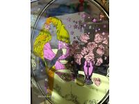 Nescafe World Wide Vintage Mirror , Girl with Pink Scarf Wall Mirror
