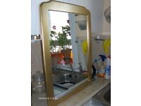 Vintage Wall Mirror With Gold Frame
