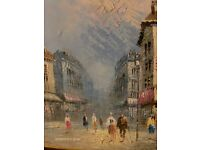 Vintage Oil Painting 20th Century FRENCH Impressionism Large