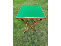 Green Baize Foldaway Card/Games Table