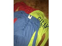 3 long sleeved Gilly Hicks tops