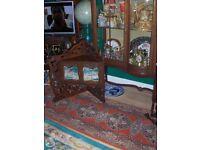 Antique Mahogany Corner Table Victorian 19th Century , Side Table