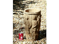 Large Very Decorative Roman Design Planter Plant Pot stone planter