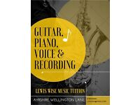 Lewis Wise Guitar, Piano, Voice and recording Tuition