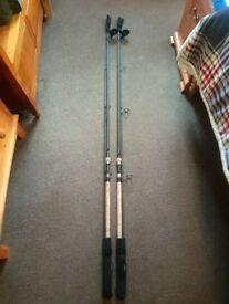 2 greys aircurve rods 3.25tc full cork handle