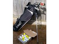 Set of Junior Golf Clubs plus bag and balls